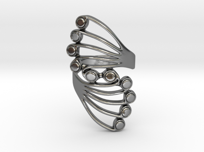 Butterfly Wing Ring Size 8 3d printed