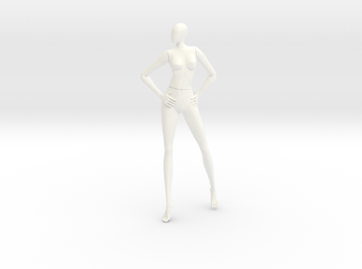 Female cartoon characters 001 scale in 12cm 3d printed