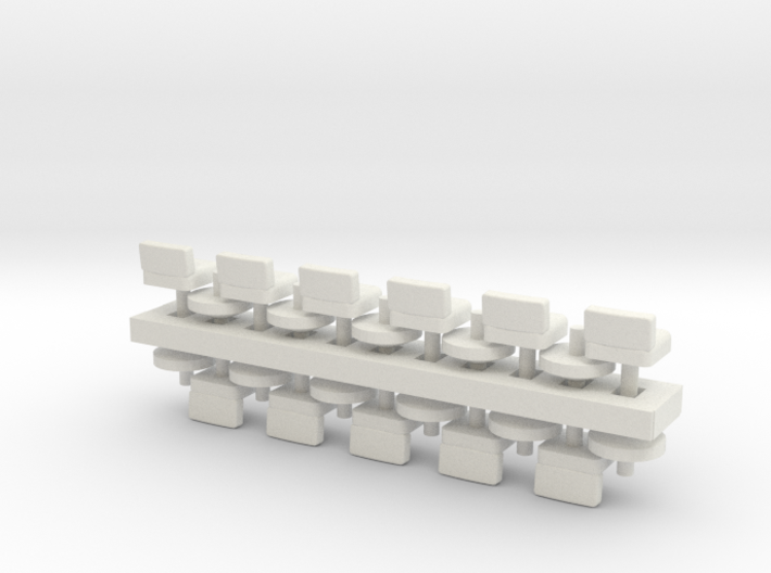 Lunch Stools Squarish HO Scale x11 3d printed
