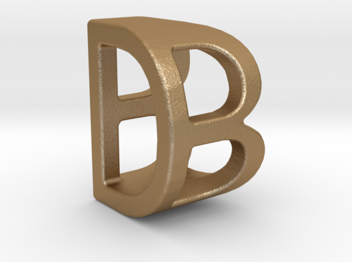 Two way letter pendant - BD DB 3d printed