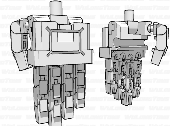 A-style Backfist plate for Articulated Robot Fists 3d printed