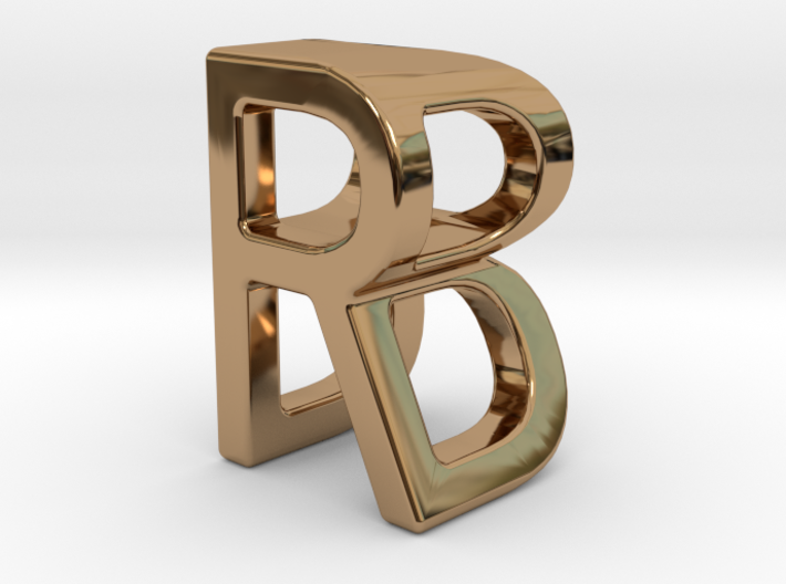 Two way letter pendant - BR RB 3d printed
