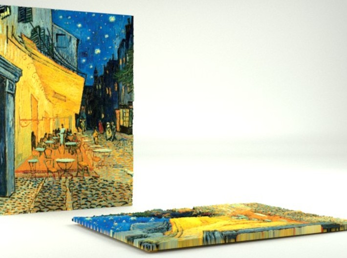 Cafe Terrace At Night (Vincent van Gogh) 3d printed