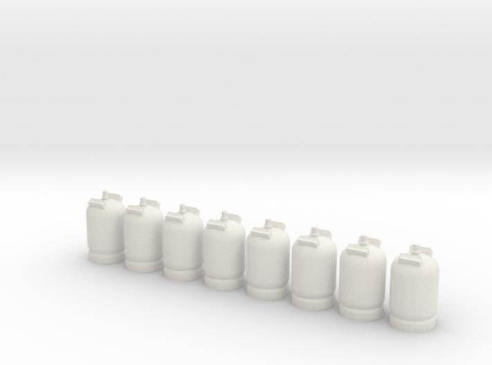 1/87 11 Kg Gasflaske - 8 Stk 3d printed