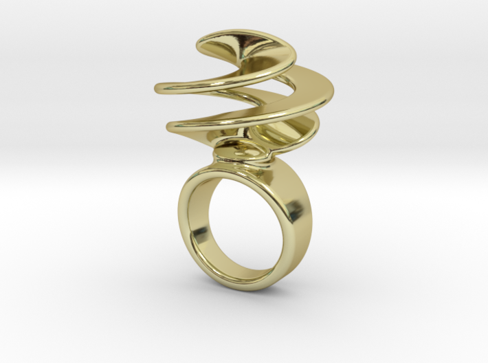 Twisted Ring 21 - Italian Size 21 3d printed