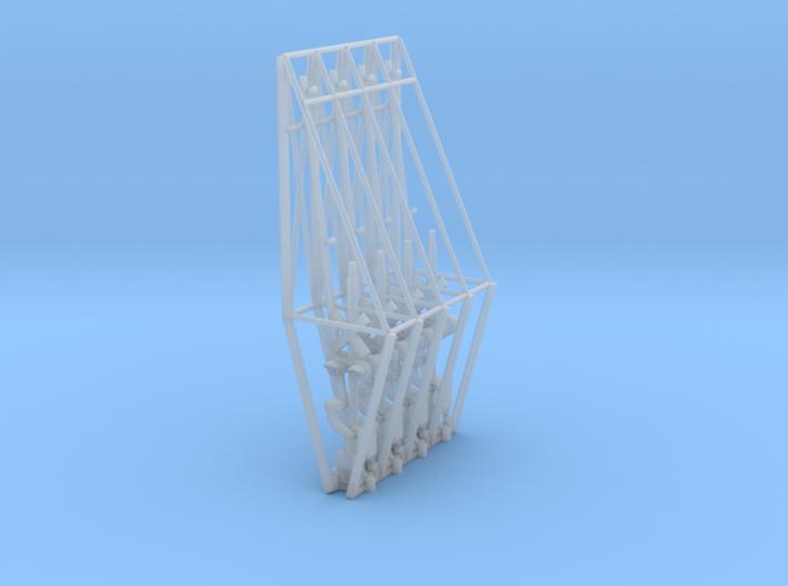 N Scale Crossing Gates 2 Lanes 4pc 3d printed