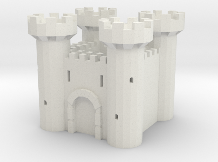 Fortress - Low Poly 3d printed
