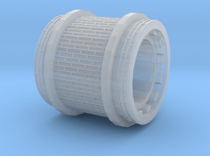 Brick paving with border (H0m) 3d printed