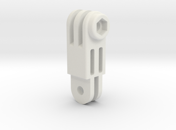 GoPro simple connector rotated M 3d printed