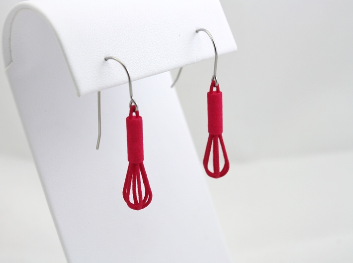 Whisk Earrings 3d printed