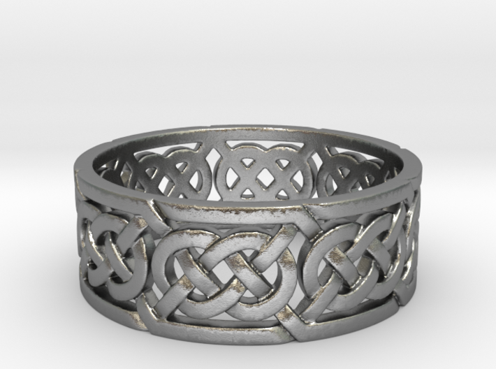 Celtic Double Knot Ring 3d printed