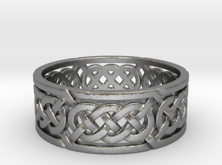 Celtic Treble Knot Ring 3d printed