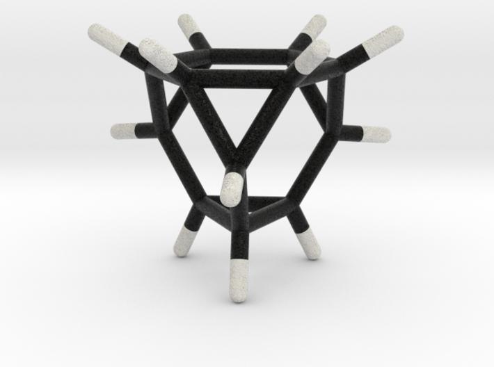 0290 Truncated Tetrahedron Molecule (C12H12) 3d printed