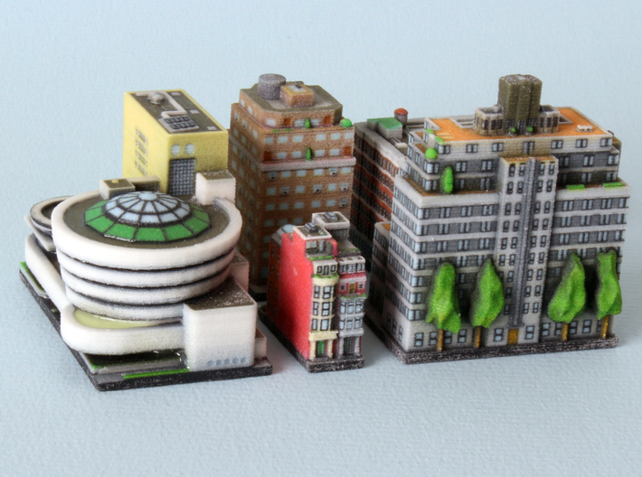 New York Guggenheim Set 3d printed All individual buildings spread out