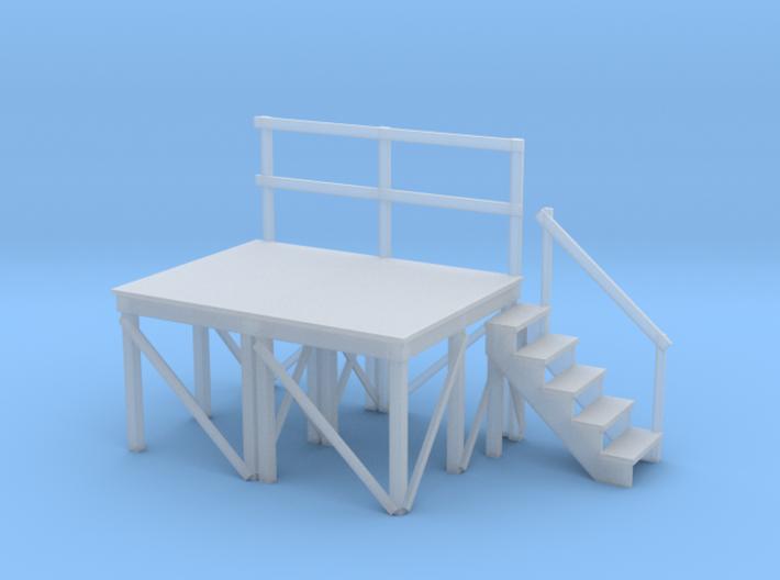 Miniature 1:48 Wood Scaffolding 3d printed