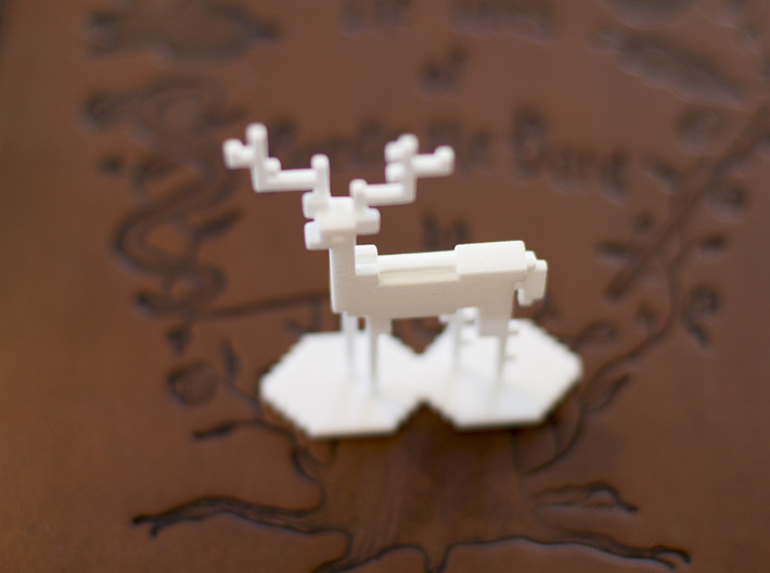 The Pixel Stag 3d printed