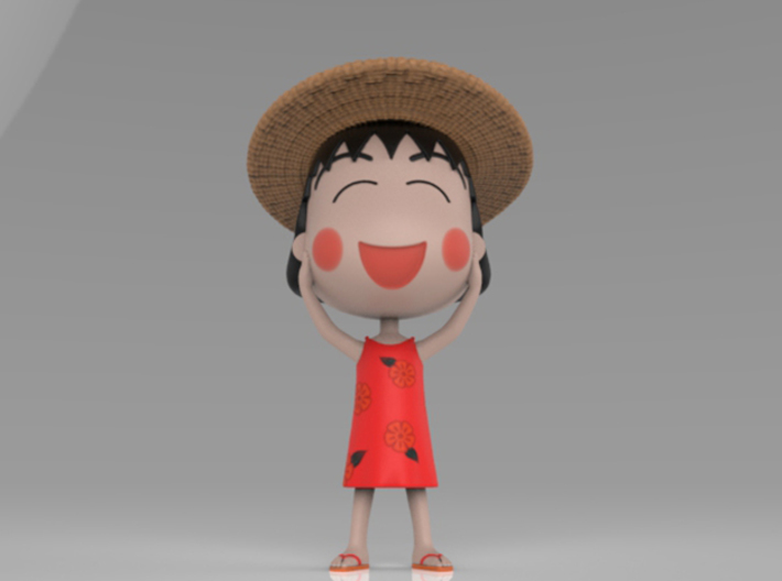 Maruko Chan Summer Dress 3d printed