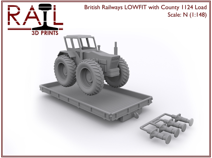 N Scale LOWFIT With County 1124 3d printed