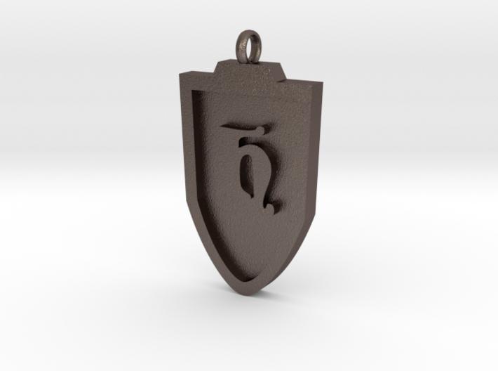 Medieval H Shield Pendant 3d printed