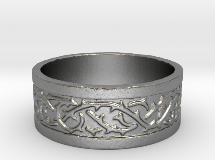 Thorns Over Stone Ring 3d printed