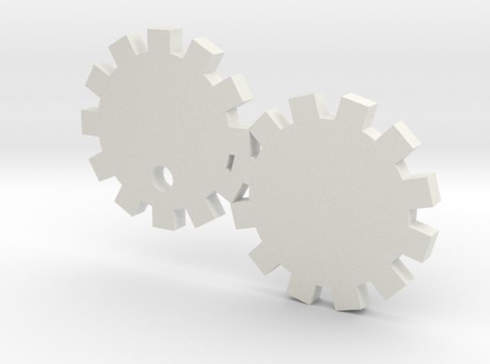 Gears Keychain 3d printed