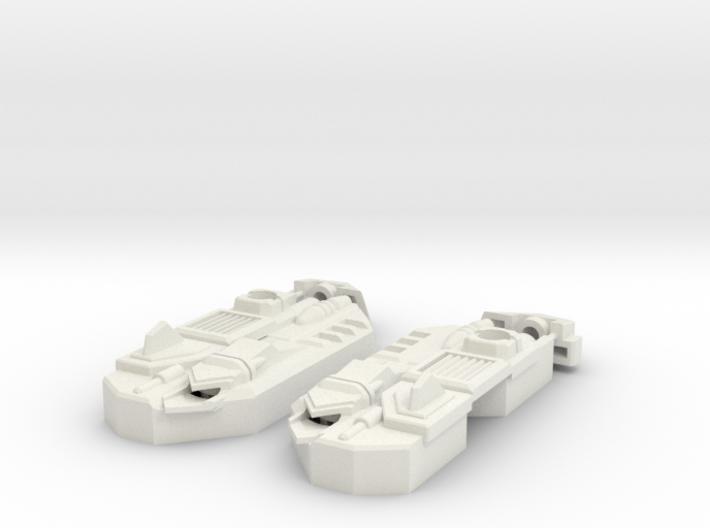Blocky Glider Leg Extension V2 3d printed