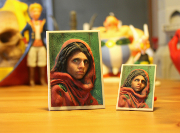 Afghan Girl 3d Photo 3d printed national geographic