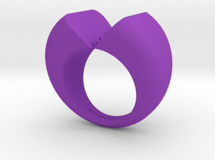 Lovers Ring 02 D19mm Size 9 3d printed