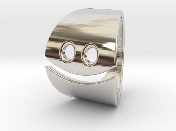 Smiley Ring 3d printed