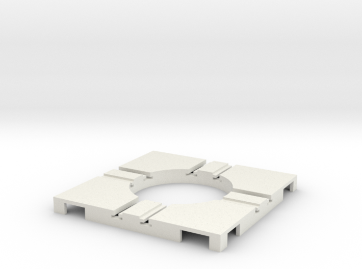 T-65-wagon-turntable-24d-75-corners-flat-1a 3d printed