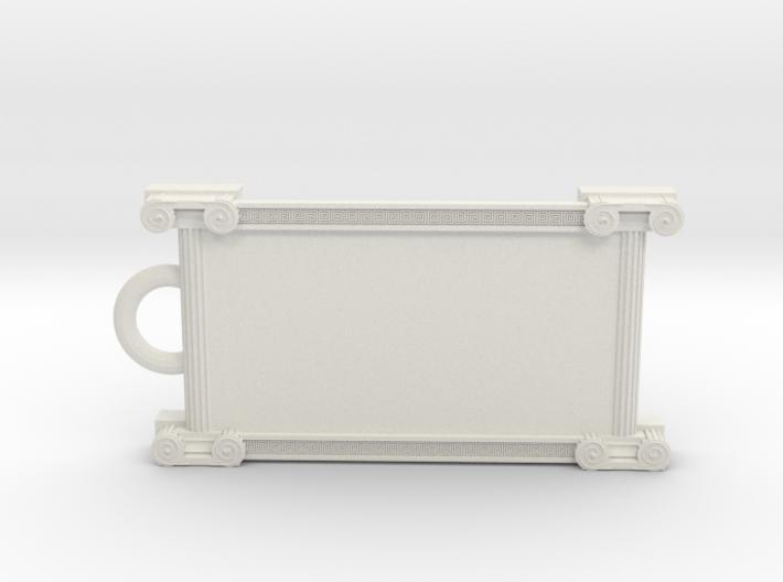 Greek ornament keychain 3d printed