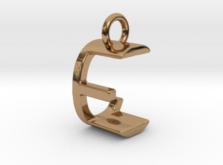 Two way letter pendant - CE EC 3d printed