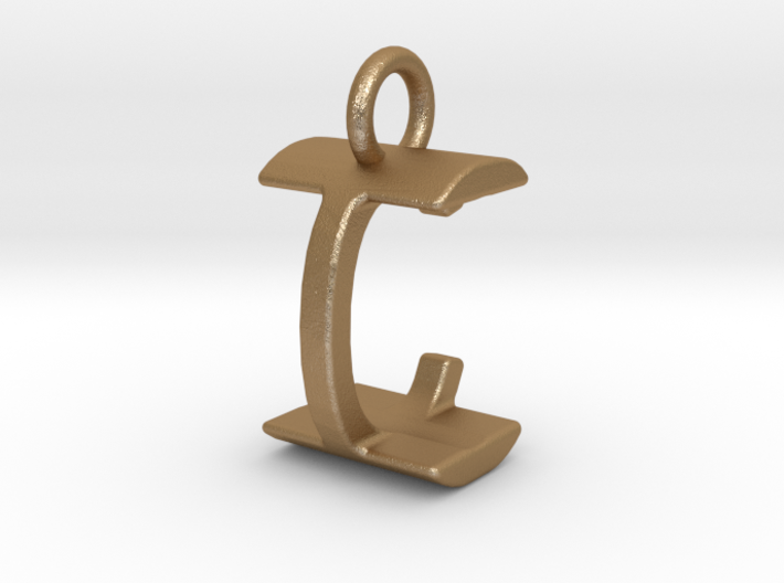 Two way letter pendant - CI IC 3d printed