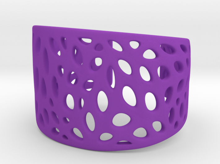 Cells Cuff One Layer (Size M) 3d printed