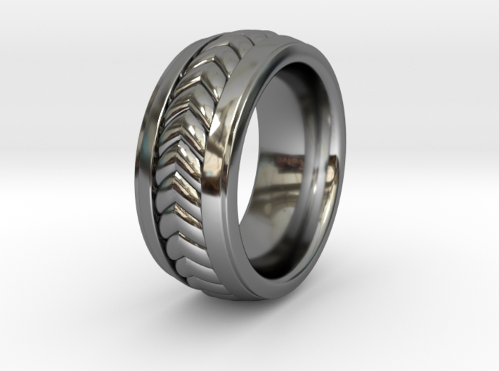 Braid Inlay RING 1 Size 9.5 3d printed