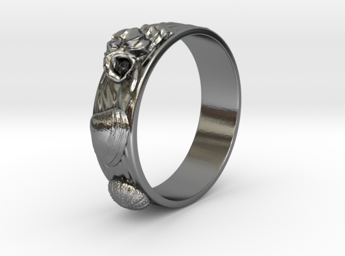 Sea Shell Ring 1 - US-Size 11 1/2 (21.08 mm) 3d printed