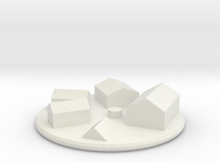 Village - Low Poly 3d printed