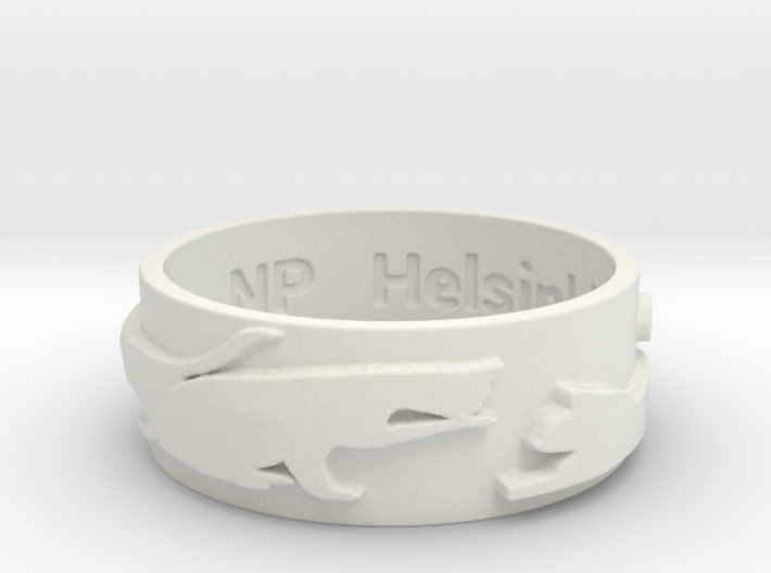 Cat Silhouette Ring (size by request) 3d printed