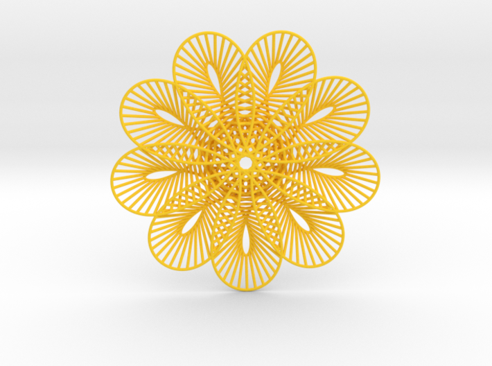 Flower Of Lines Coaster 3d printed