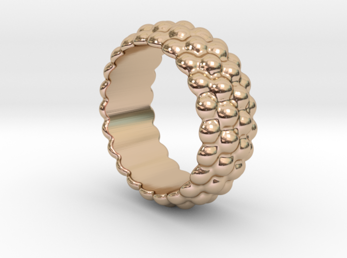 Big Bubble Ring 30 - Italian Size 30 3d printed