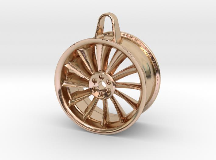 Aluminium Wheel - Keychain 3d printed