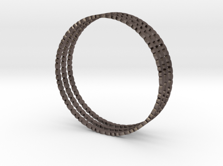 Thin Pebble Bangle Bracelet (Set of Three) 3d printed