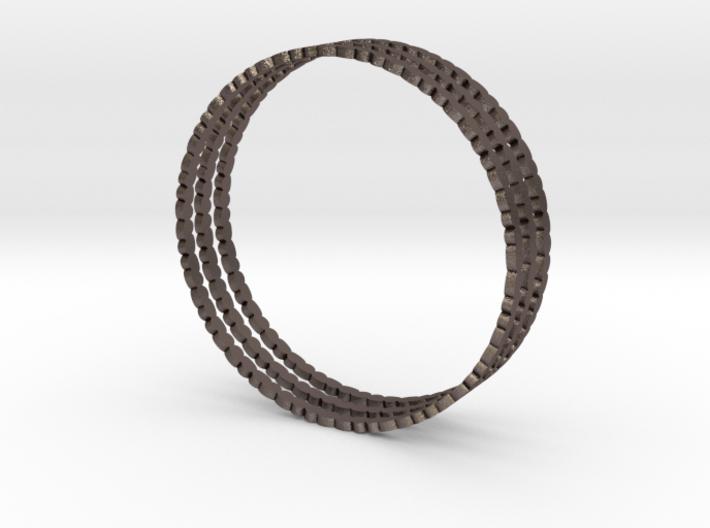 Thin Pebble Bangle (Set of Three) 3d printed