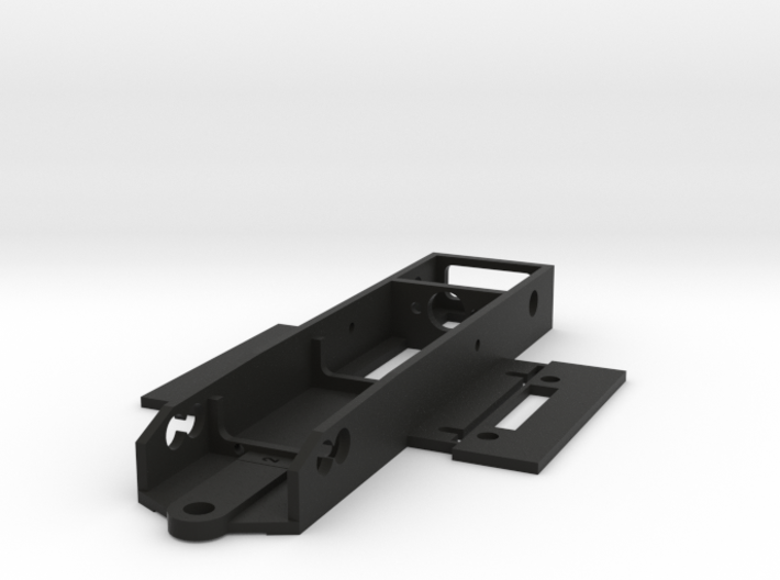 NWP2L Chassis for WP CanAm wb 94 and 100mm 3d printed The chassisas delivered from Shapeways. Body mounts are integrated in the design