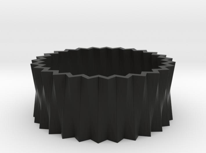 Pleats Rings 3d printed