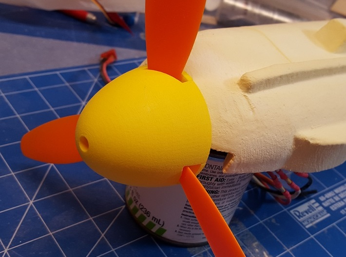 GWS ME-109 / BF-109 Spinner, late model, 3 blade 3d printed