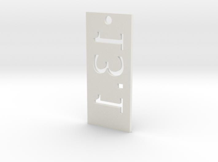13.1 Keychain 3d printed