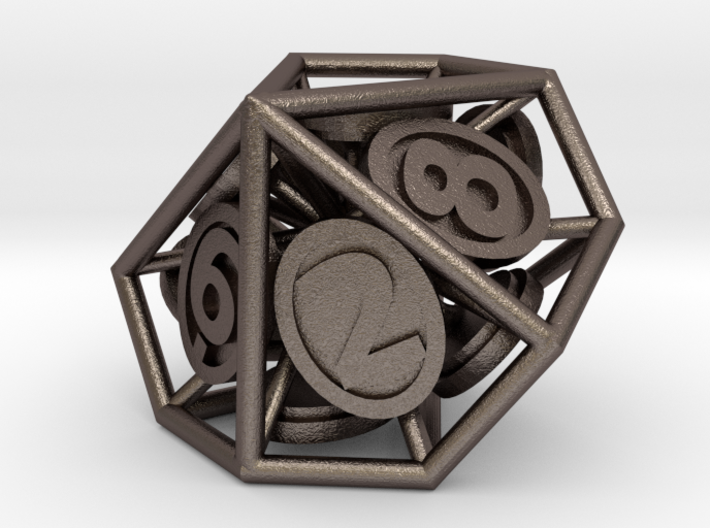 10-Sided Vector Die (10s%) 3d printed