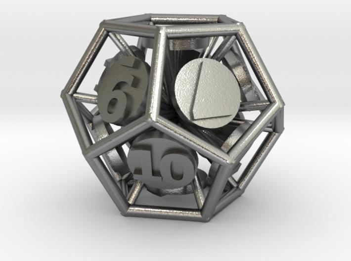 12-Sided Vector Die 3d printed