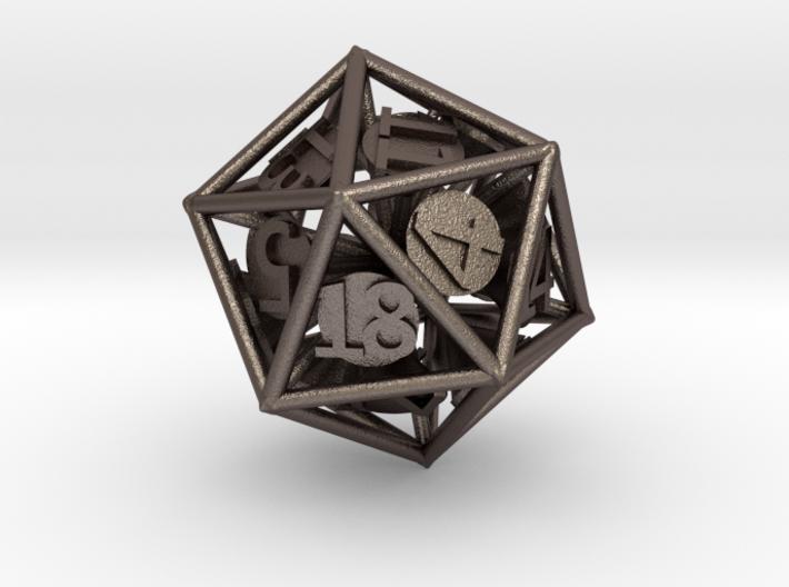 20-Sided Vector Die 3d printed